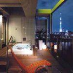露天浴槽(夜景)
