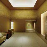 置かれる家具の色も金箔と呼応