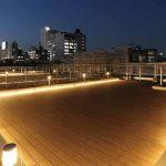屋上ウッドデッキテラス夜景