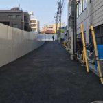 工事用道路拡張整備後